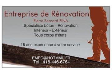 entreprise renovation pierre bernard pina