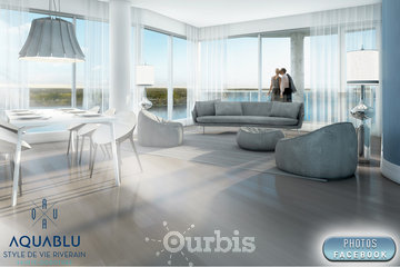 Condos AquaBlu à Laval: The Aquablu Condo Laval Living room