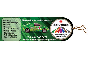 solutions printing, signs and awnings in Burnaby: signs vancouver bc / vehicle wrap vancouver