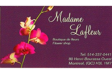 Madame Lafleur à Montréal: business card/front