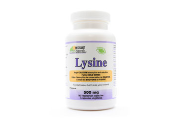 Westcoast Naturals in Richmond: Lysine 500 mg 90 vcaps