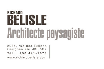 Richard Bélisle, architecte paysagiste
