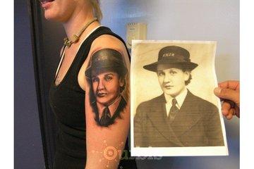 Sin on Skin Tattoo Studio in Halifax: Love this portrait tattoo by Kyle