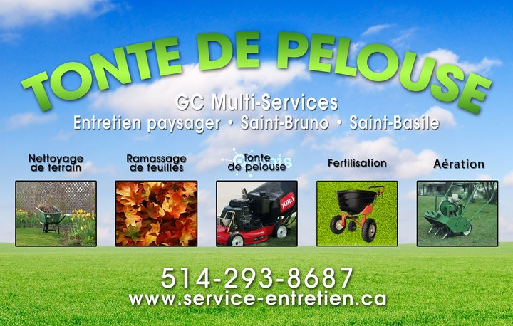 Tonte de pelouse st bruno gc multiservices saint basile for Service tonte gazon