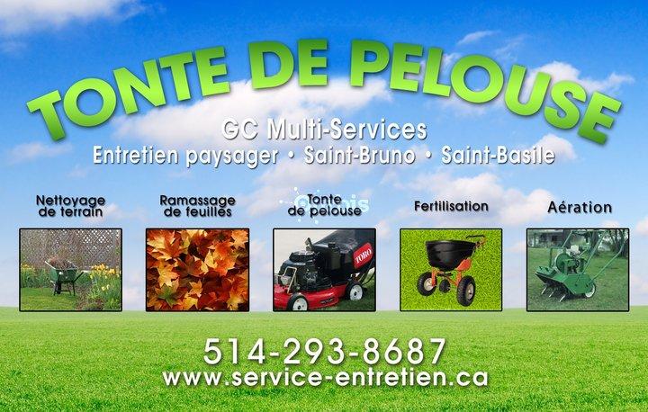 Tonte de pelouse st bruno gc multiservices saint basile for Service personne tonte pelouse
