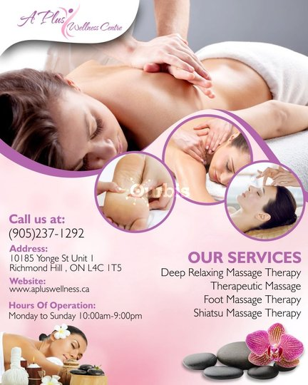 Relaxation Massage Therapy in Richmond Hill | A Plus Wellness Centre in  Richmond Hill