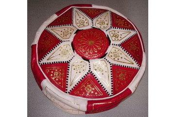 Pachmina in Montréal: Poof en cuir du Maroc