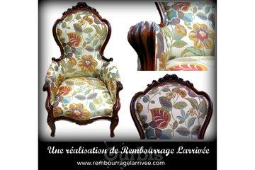 Rembourrage Larrivée Ltée in Saint-Eustache: rembourrage d'un beau fauteuil d'appoint