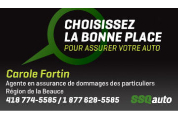 Carole Fortin, agente en assurance de dommages des particuliers affiliée à SSQauto