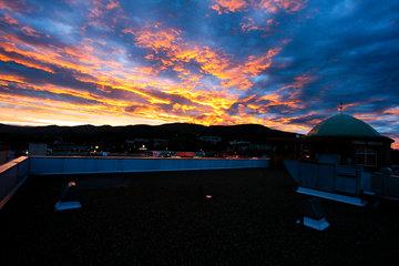 Sun Valley Mall Ltd in Vernon: Rooftop Sunset