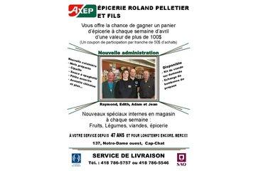 Epicerie Roland Pelletier et Fils Inc in Cap-Chat: publicité pour le mois d'avril