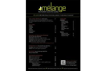 Melange Restaurant & Gastro Lounge Inc