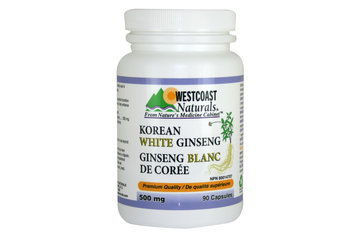 Westcoast Naturals in Richmond: Korean White Ginseng 500 mg 90 caps
