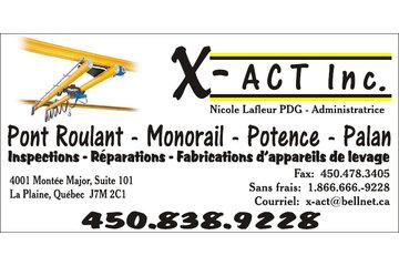 X-Act Le Groupe Inc. à Terrebonne: X-Act Pont roulant