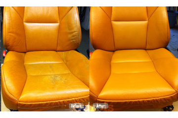 Fibrenew Burnaby in Burnaby: leather seat redye