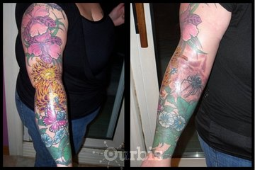 Sin on Skin Tattoo Studio in Halifax: Amazing floral sleeve by Kyle at Sin on Skin