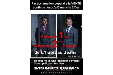 Mondo Uomo à Laval: promotion