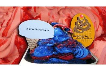 Crémerie Des Moulins in Terrebonne: Notre gelato spiderman, saveurs barbe à papa et melon d'eau