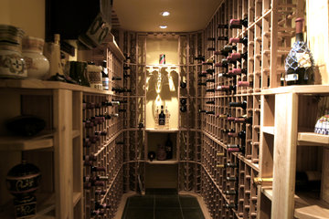 JENOMA High Quality Renovations in Montréal: Wine room in basement