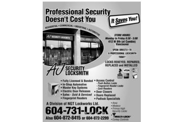 A J Security Locksmith Ltd