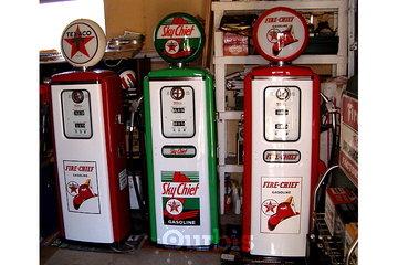 Dave's Garage & Memorabilia Inc in Abbotsford: Gas pumps restored by me.