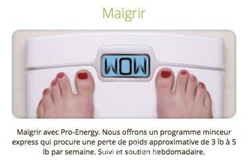 Clinique Santé Corporelle Linda Martel in Montréal: Maigrir avec Pro Energy