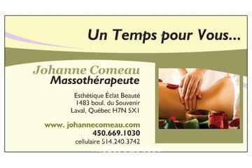 Johanne Comeau, Massothérapeute