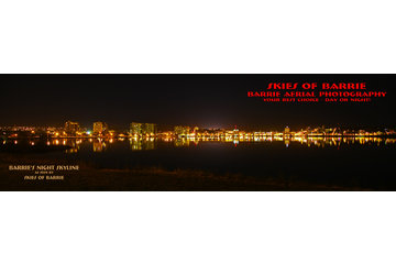 Barrie Aerial Photography - Skies Of Barrie in Barrie: What a great evening skyline - down by the bay!