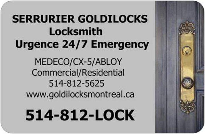 Serrurier goldilocks locksmith montreal qc ourbis for Serrurier montreal