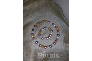 Cranberry Rose Boutique & Tea House in Moose Jaw: Oval Pearls with Gold Metal Bead Detail
