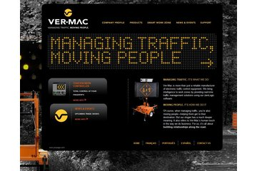 Signalisation Ver-Mac Inc à Québec: Page d'accueil de www.ver-mac.com Home page
