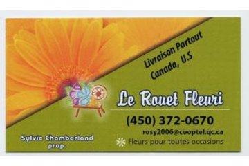 Fleuriste Le Rouet Fleuri in Granby: lundi au vendredi 8am- 3pm