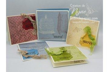 Mlle Papier à Brossard: Mini-cartes et sa pochette