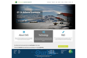 Outrageous Creations à Newmarket: Website developed for Canadian Micro Gravity in Aurora, Ontario