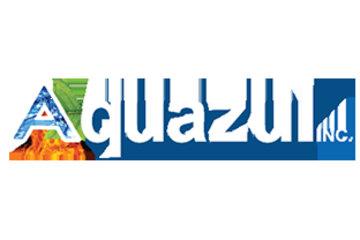 AQUAZUL à St-Leonard: Le logo de l'établissement