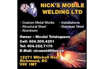 Nick's Mobile Welding Ltd in Richmond: Nick's Mobile Welding Ltd