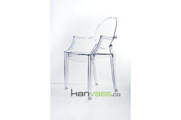 Mobilier Kanvass à Montréal: Reproduction chaise Louis Ghost chair replica