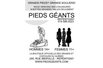 PIEDS GÉANTS CHAUSSURES