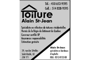 Toiture Alain St-Jean in Saint-Basile-le-Grand: Toiture Alain St-Jean