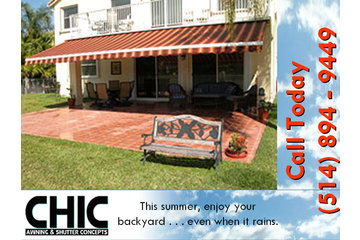 Les Auvents Chic Awnings in Dollard-des-Ormeaux: Awnings Installation and Service Westmount