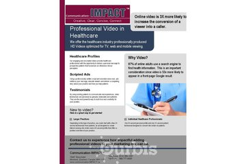 New Horizons Consulting - Communication-IMPACT à Montréal: Healthcare Video Marketing