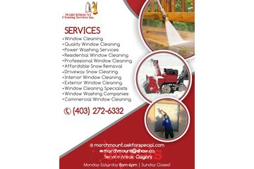 Marchmount Cleaning Services Inc. | Window washing companies Calgary