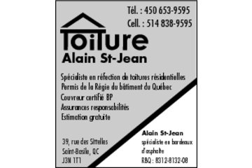 Toiture Alain St-Jean in Saint-Basile-le-Grand