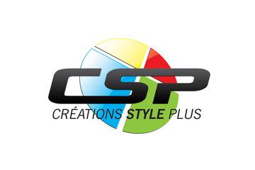 Créations Style Plus in Saint-Charles-Borromée: Logo de la manufacture de vêtements Créations Style Plus, spécialisé dans l'uniforme et la broderie