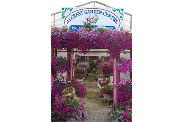 Alcrest Garden Centre- Palmer Greenhouse in Creston: Front, road side view