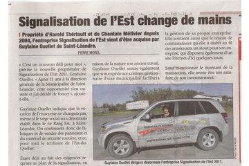 Signalisation de l'Est (2011) à Matane: Nouvelle Administration