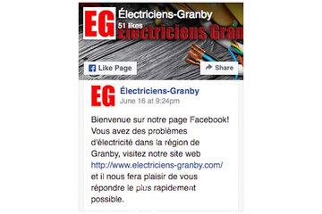 Électriciens Granby in Granby: page Facebook électricien