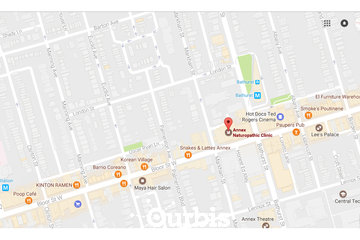 Annex Naturopathic Clinic in Toronto: Location map