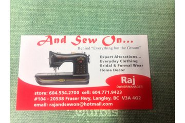 And Sew On ... in Langley
