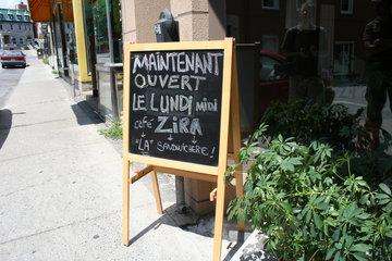 Café Zira in Saint-Hyacinthe